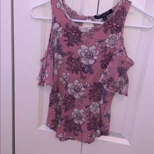 One Clothing Los Angeles floral,riffle,shoulderles